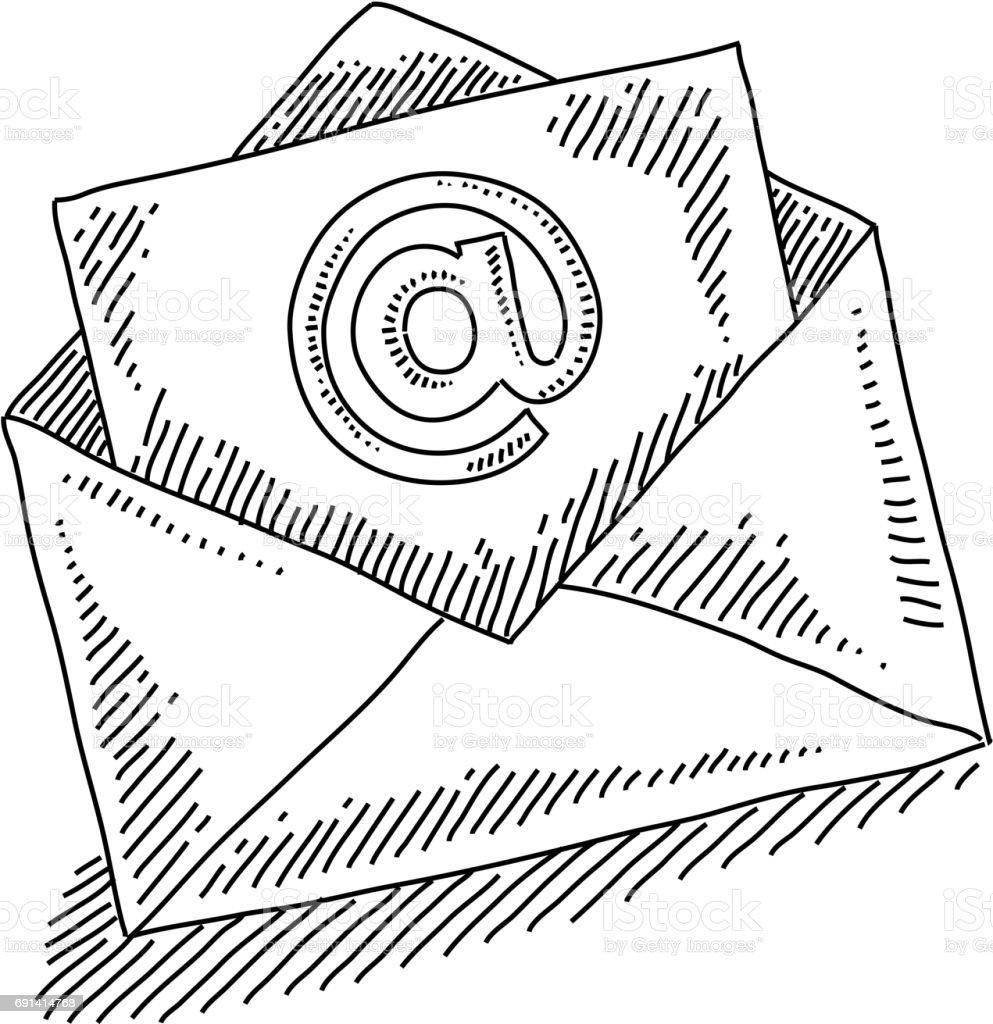 Email Marketing Concept Dessin Vecteurs libres de droits et plus d'images  vectorielles de Affaires - iStock