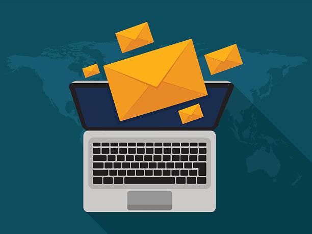 Email marketing concept vector art illustration