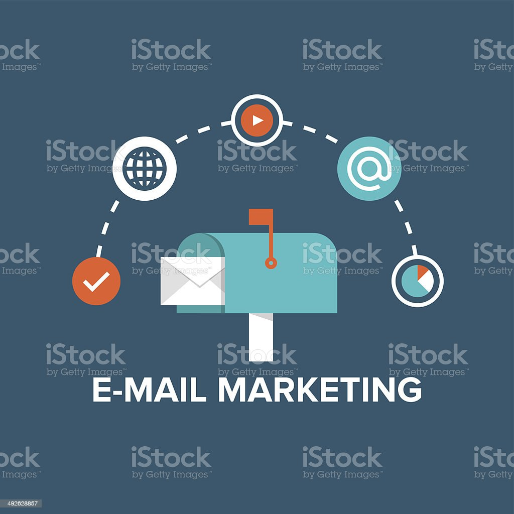 E-mail marketing flat illustration vector art illustration