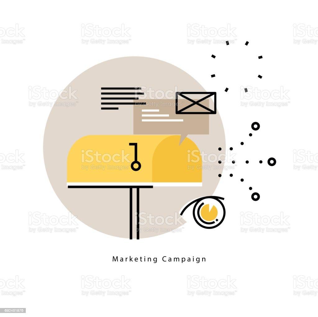 E-mail marketing, online advertising flat vector illustration vector art illustration