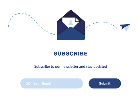 Email marketing. Subscription to newsletter.
