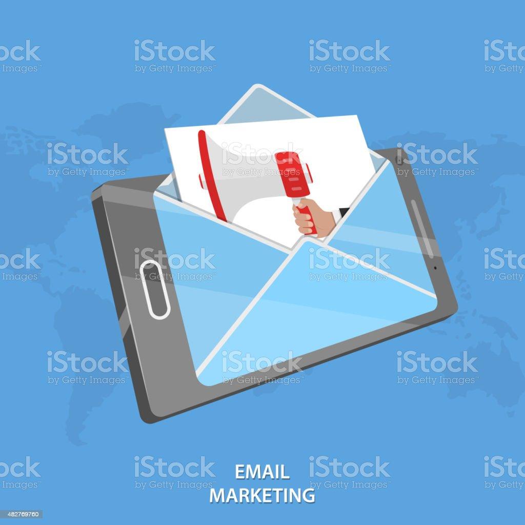 E-Mail-marketing Vektor-Konzeptionelle Illustrationen. Lizenzfreies emailmarketing vektorkonzeptionelle illustrationen stock vektor art und mehr bilder von 2015