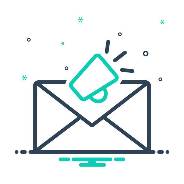 illustrazioni stock, clip art, cartoni animati e icone di tendenza di email marketing - newsletter