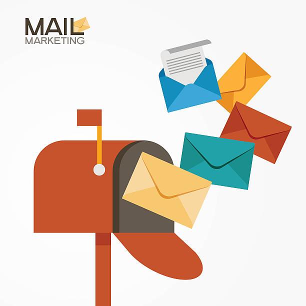 E-mail-marketing – Vektorgrafik