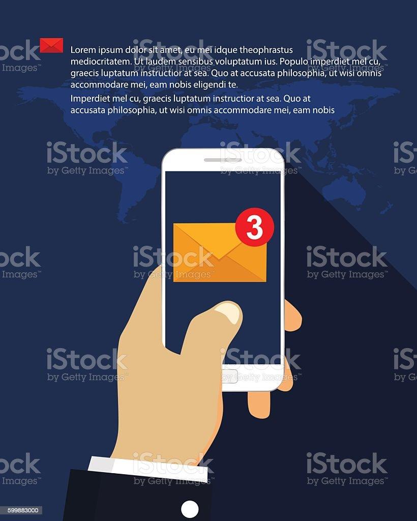 Email marketing vector art illustration