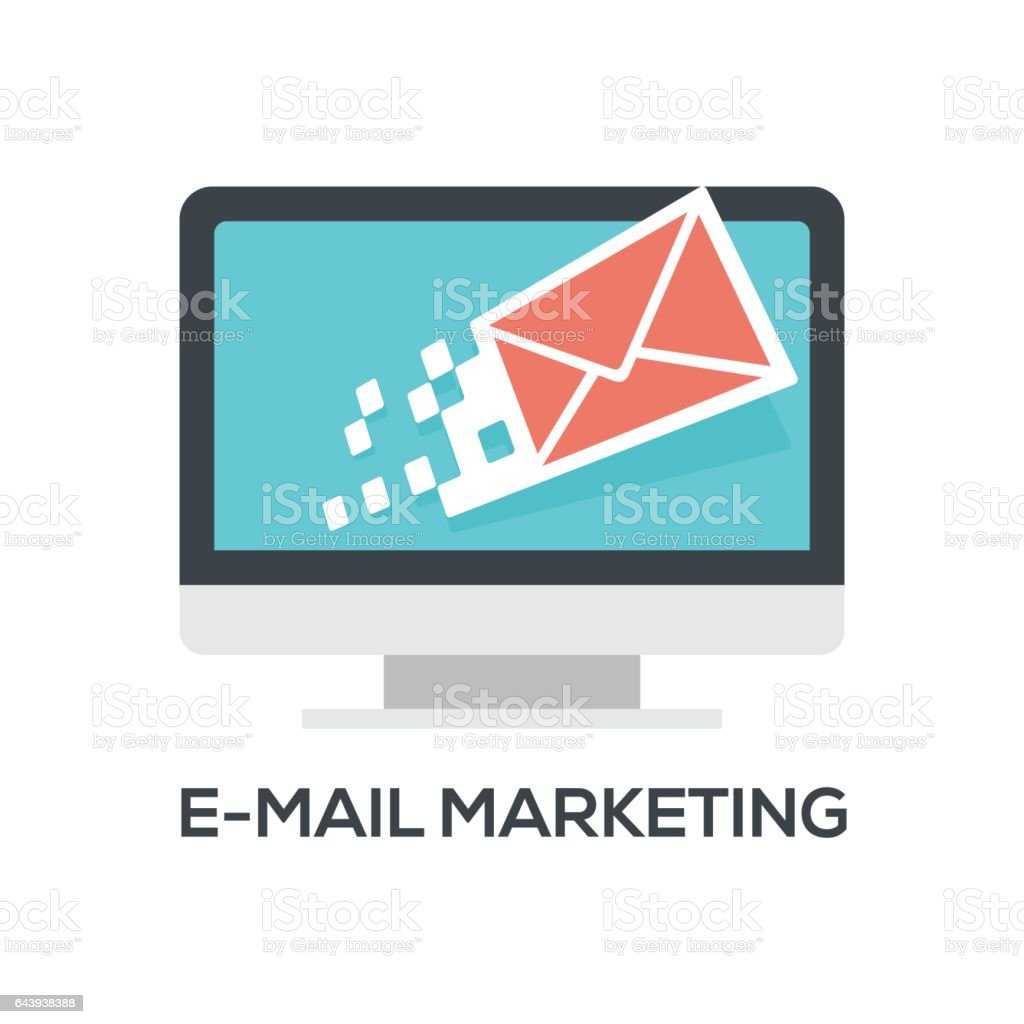 E-mail Marketing vector art illustration