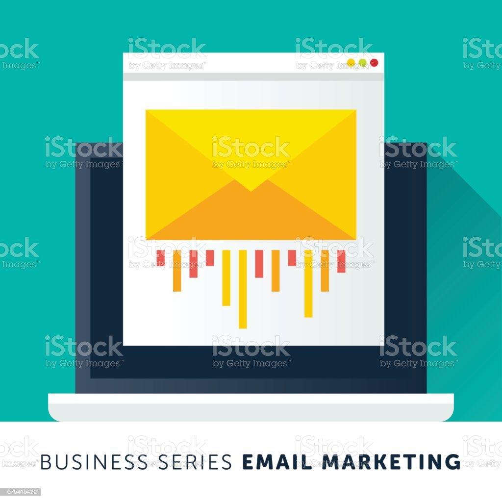 E-mail Marketing  - ilustração de arte em vetor