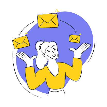 E-Mail Marketing Vector illustration in a Flat Style