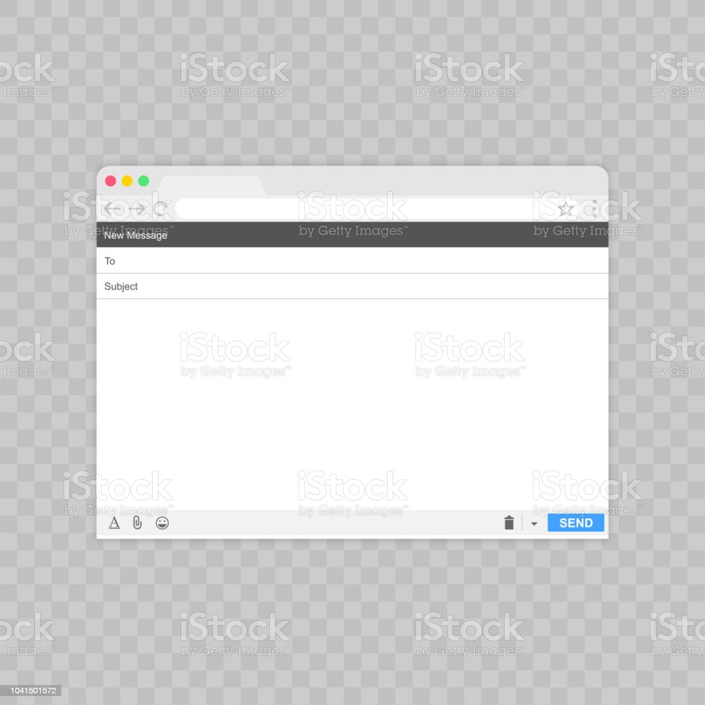 Email Message Blank Window Of Email Template Email Blank Template
