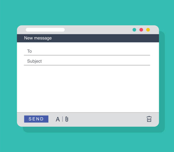 email message blank window template. e-mail blank template internet mail frame interface for message. - email templates stock illustrations