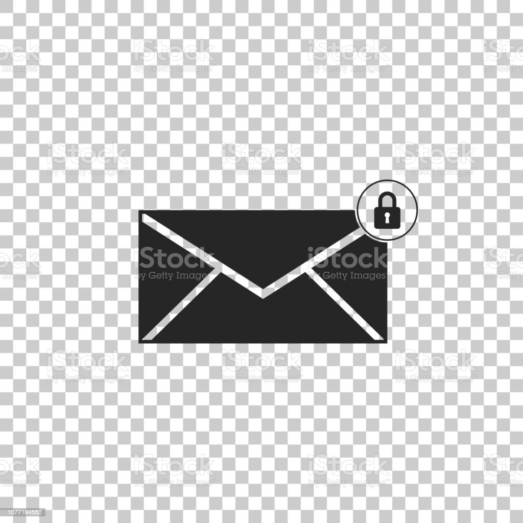 Email Message Lock Password Icon Isolated On Transparent