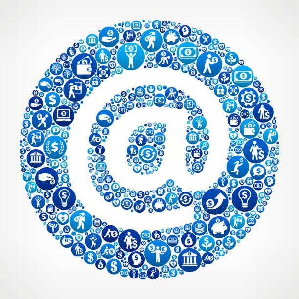 Envoyer argent icône bleue de fond - Illustration vectorielle
