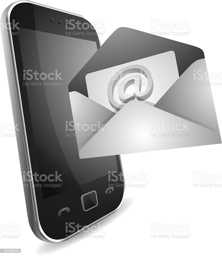 Email on your smartphone royalty-free stock vector art