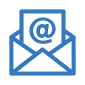 Beautiful, meticulously designed Email, Open mail, New Email icon. Well organized and fully editable Vector icon.