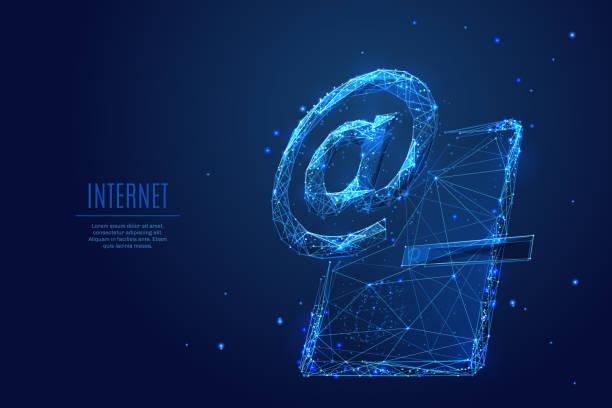 E-Mail- oder Internet-Symbol auf tablet – Vektorgrafik