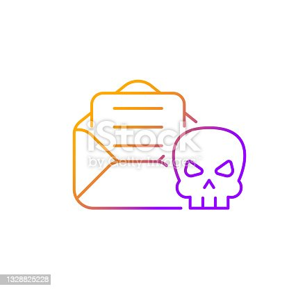 istock Email phishing gradient linear vector icon 1328825228