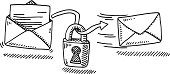 istock Email Security Encryption Padlock Drawing 468159459