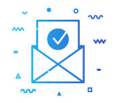 istock Email Security Line Style Icon Design 1154840010