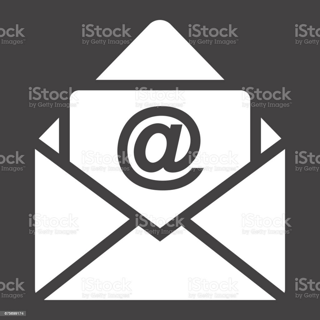 Email solid icon, envelope and website button, vector graphics, a filled pattern on a black background, eps 10. royalty-free email solid icon envelope and website button vector graphics a filled pattern on a black background eps 10 stock vector art & more images of azerbaijan