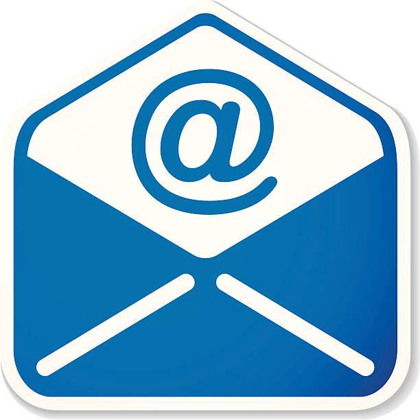 e-mail autocollant - Illustration vectorielle
