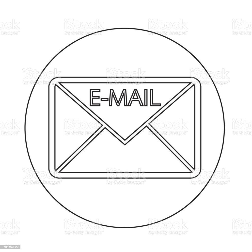 Emailsymbolsymbol Stock Vektor Art und mehr Bilder von Brief ...