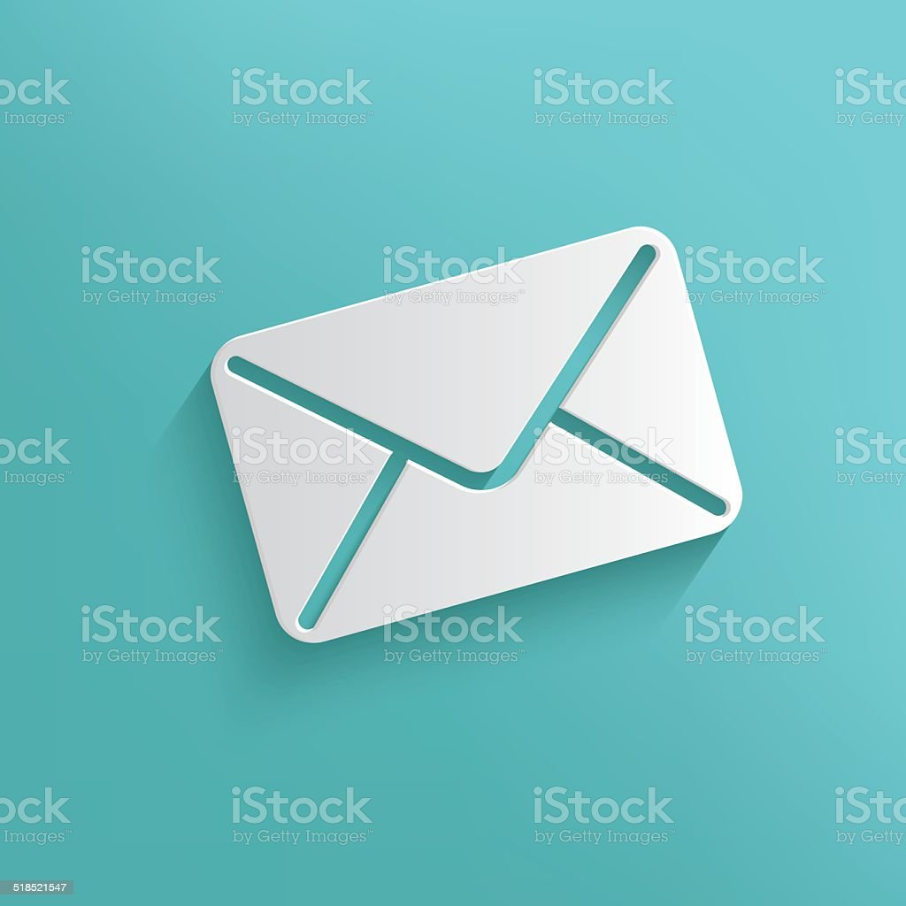 E-mail symbol on blue background,clean vector vector art illustration