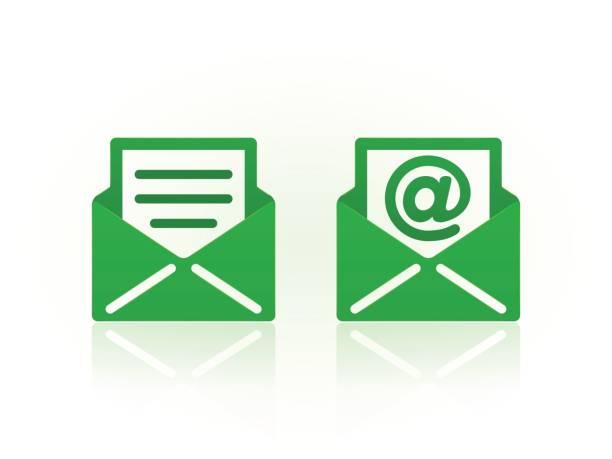 Symboles de courriel sur fond blanc. Icônes vectorielles. - Illustration vectorielle