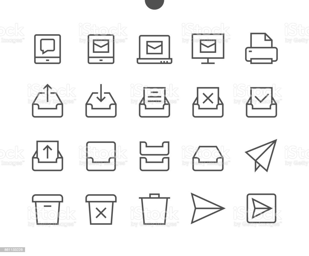 Email UI Pixel Perfect Well-crafted Vector Thin Line Icons 48x48 Ready for 24x24 Grid for Web Graphics and Apps with Editable Stroke. Simple Minimal Pictogram vector art illustration