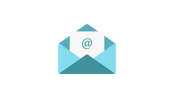 Email vector flat Icon Email vector flat Icon email signs stock illustrations