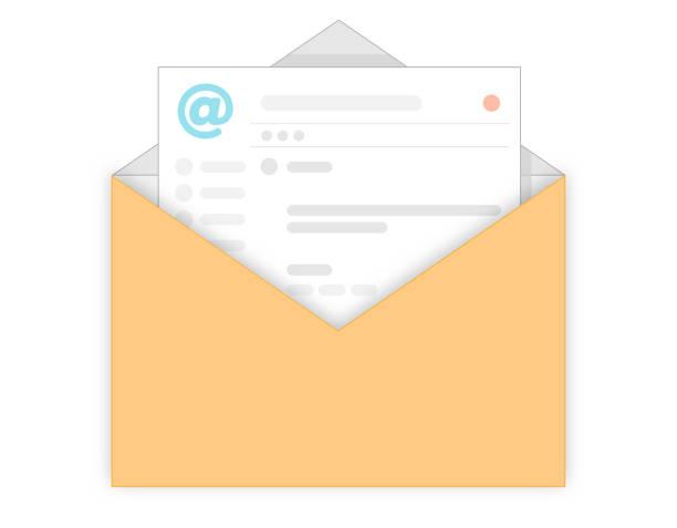 Email vector art illustration