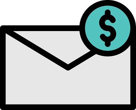 email vector color line icon