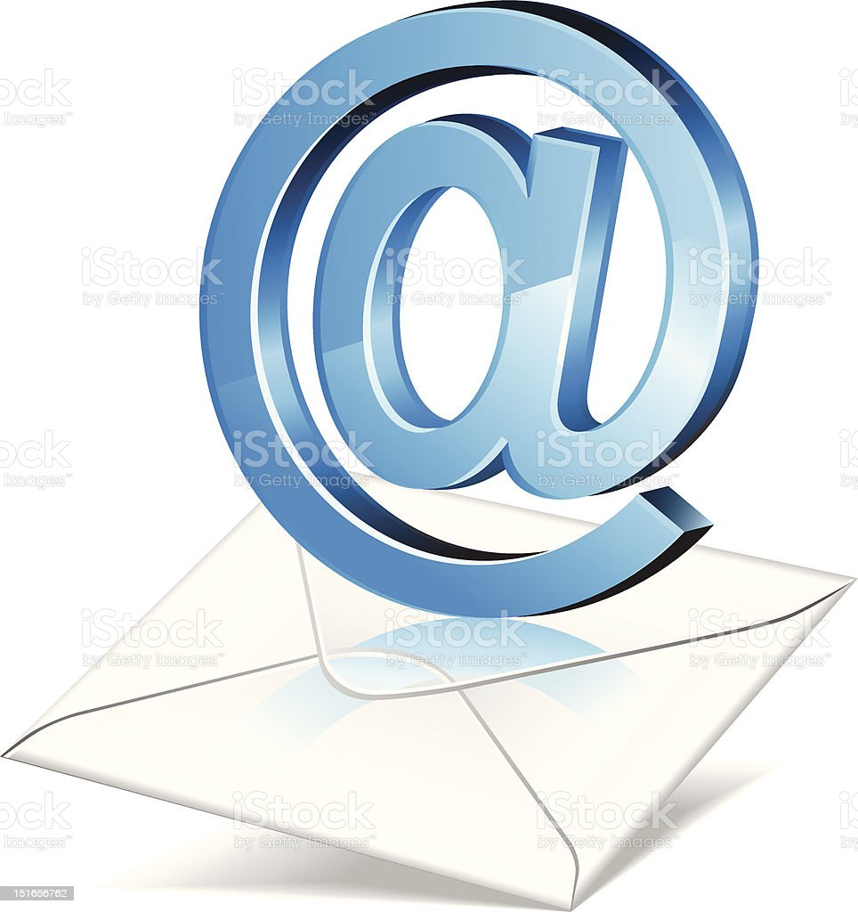 E-mail royalty-free email stock vector art & more images of 'at' symbol