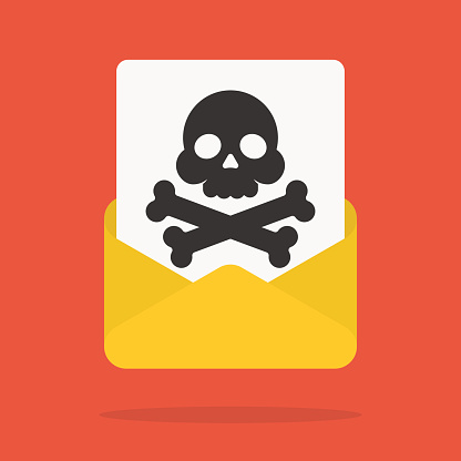 Email With Spam Or Internet Virus Stock Illustration ...