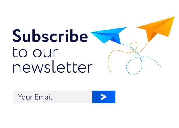 illustrazioni stock, clip art, cartoni animati e icone di tendenza di email-subscribe-form copy - newsletter