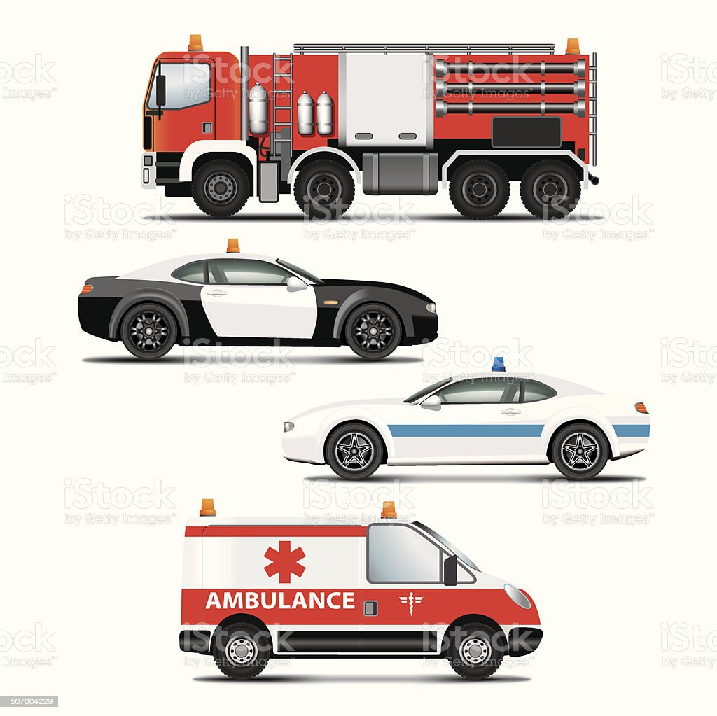 Emargency transport vector art illustration