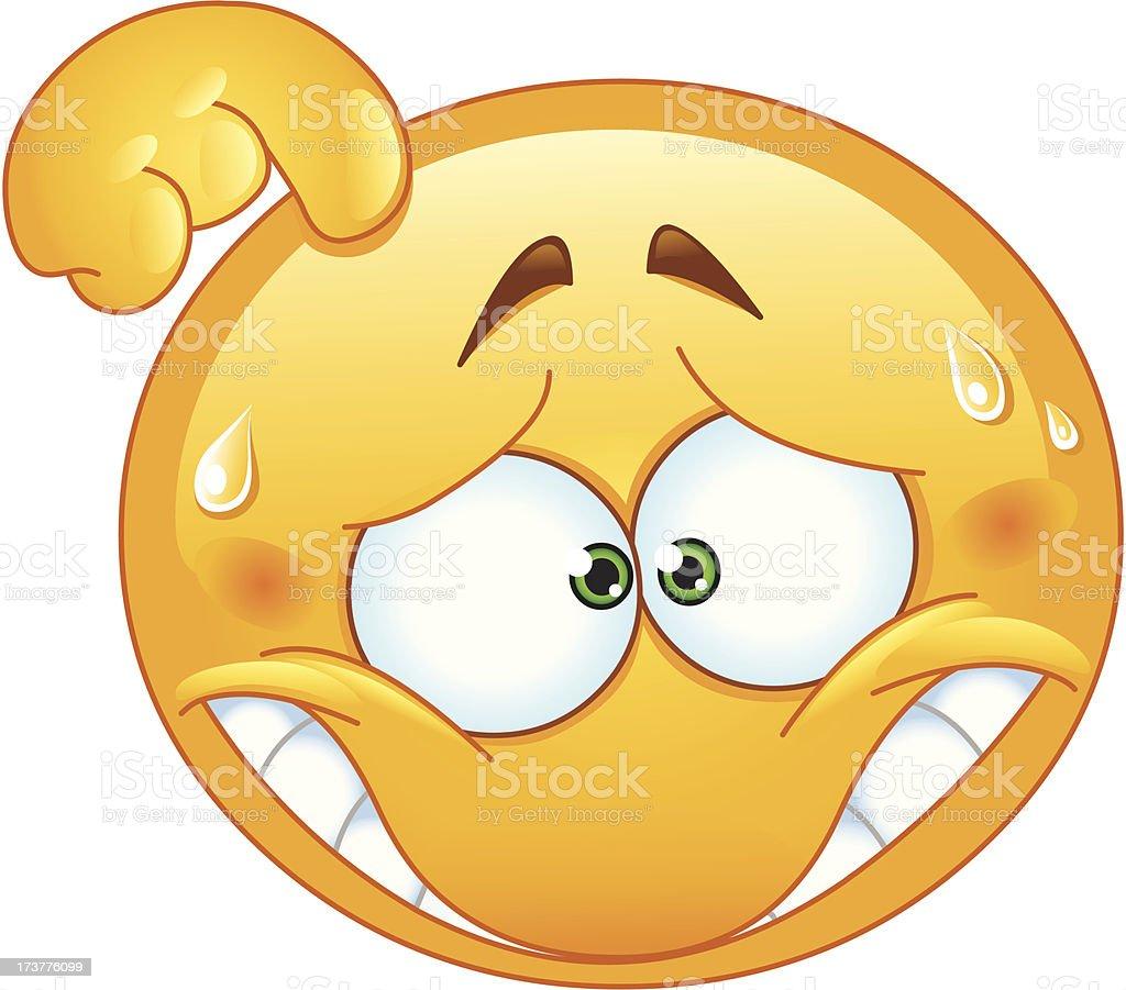 Imbarazzato Emoticon Immagini Vettoriali Stock E Altre