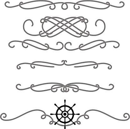 Embellished rope line graphic set