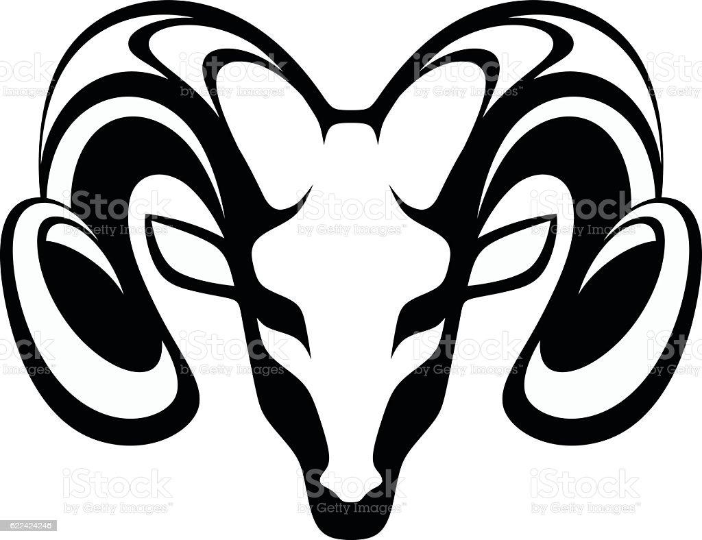 Emblem aries – artystyczna grafika wektorowa