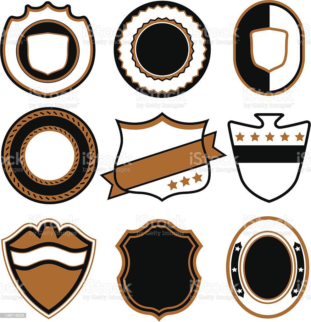 emblem badge set royalty-free emblem badge set stock vector art & more images of art and craft