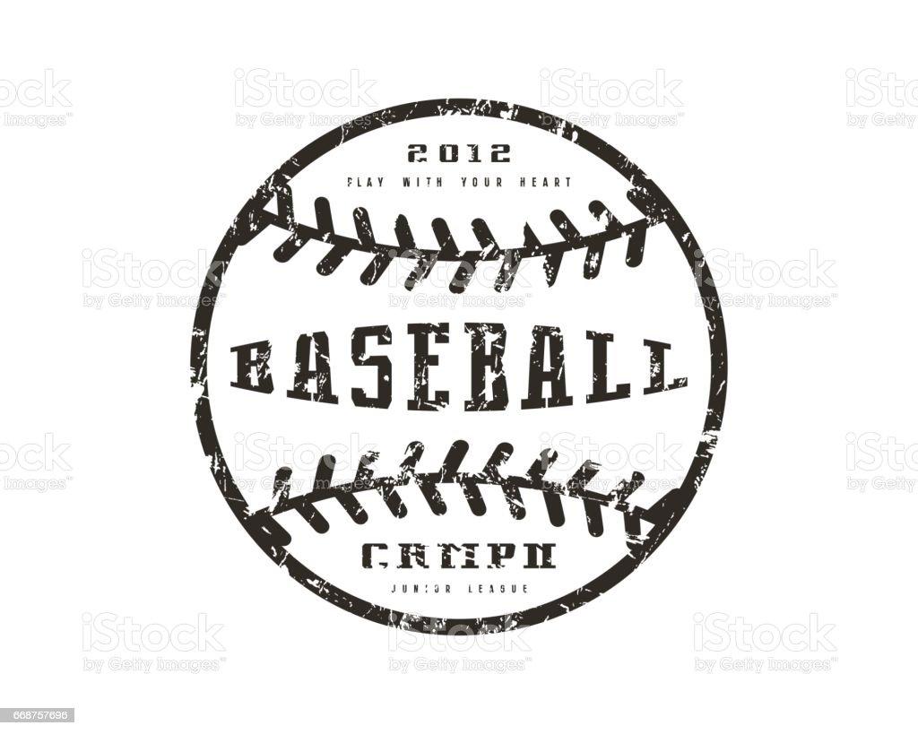 Emblem baseball championship vector art illustration