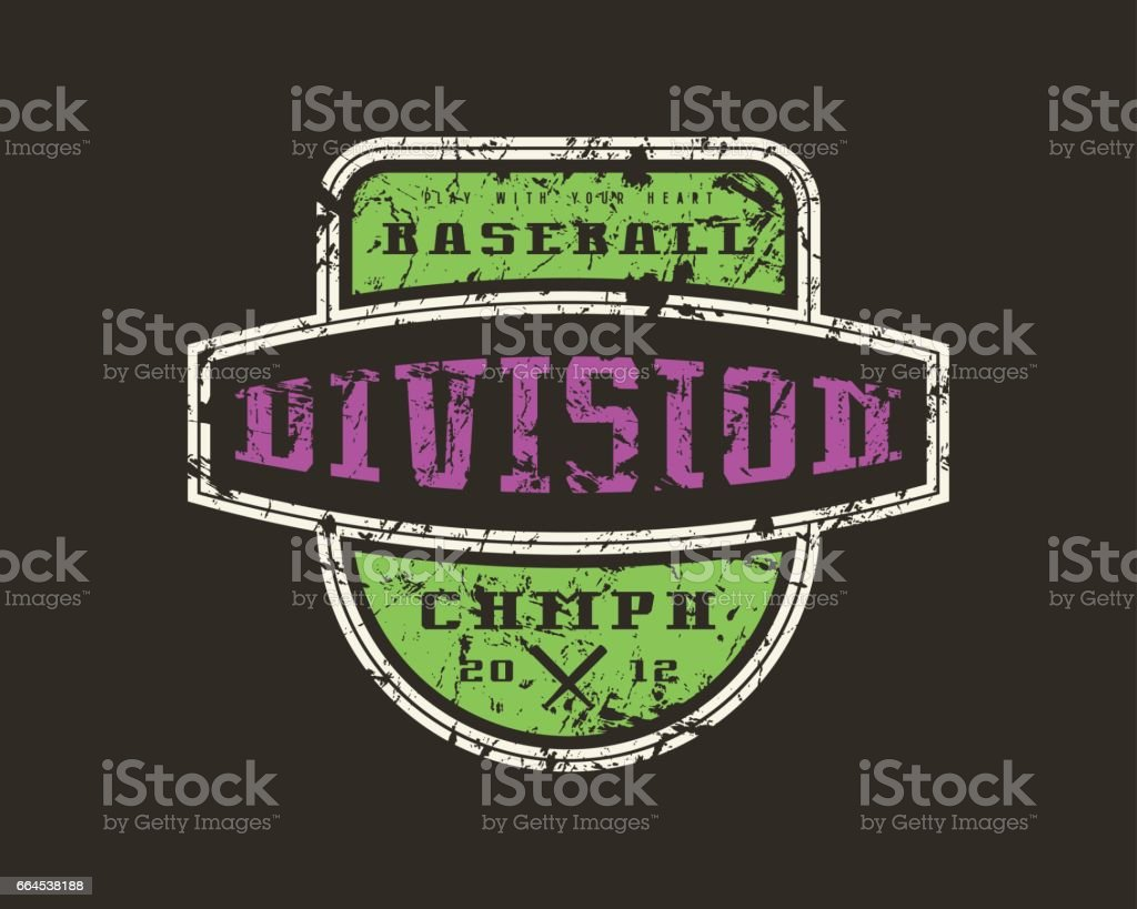 Emblem baseball division royalty-free emblem baseball division stock vector art & more images of athlete