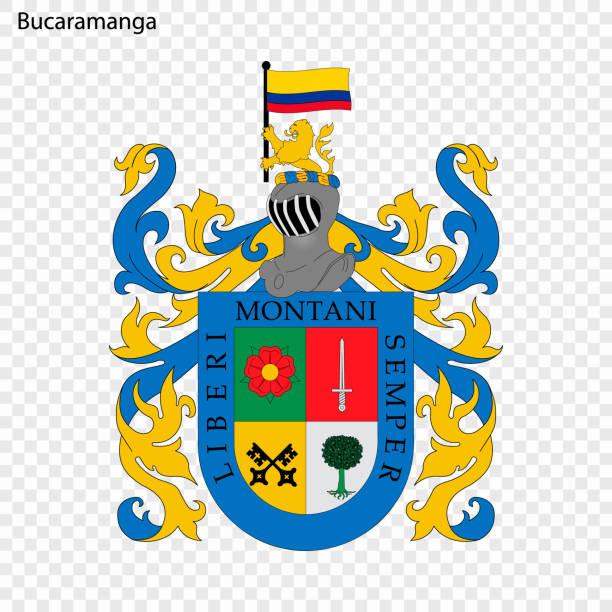 wappen stadt kolumbiens - bucaramanga stock-grafiken, -clipart, -cartoons und -symbole