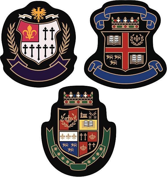emblem college-logo - kamm stock-grafiken, -clipart, -cartoons und -symbole