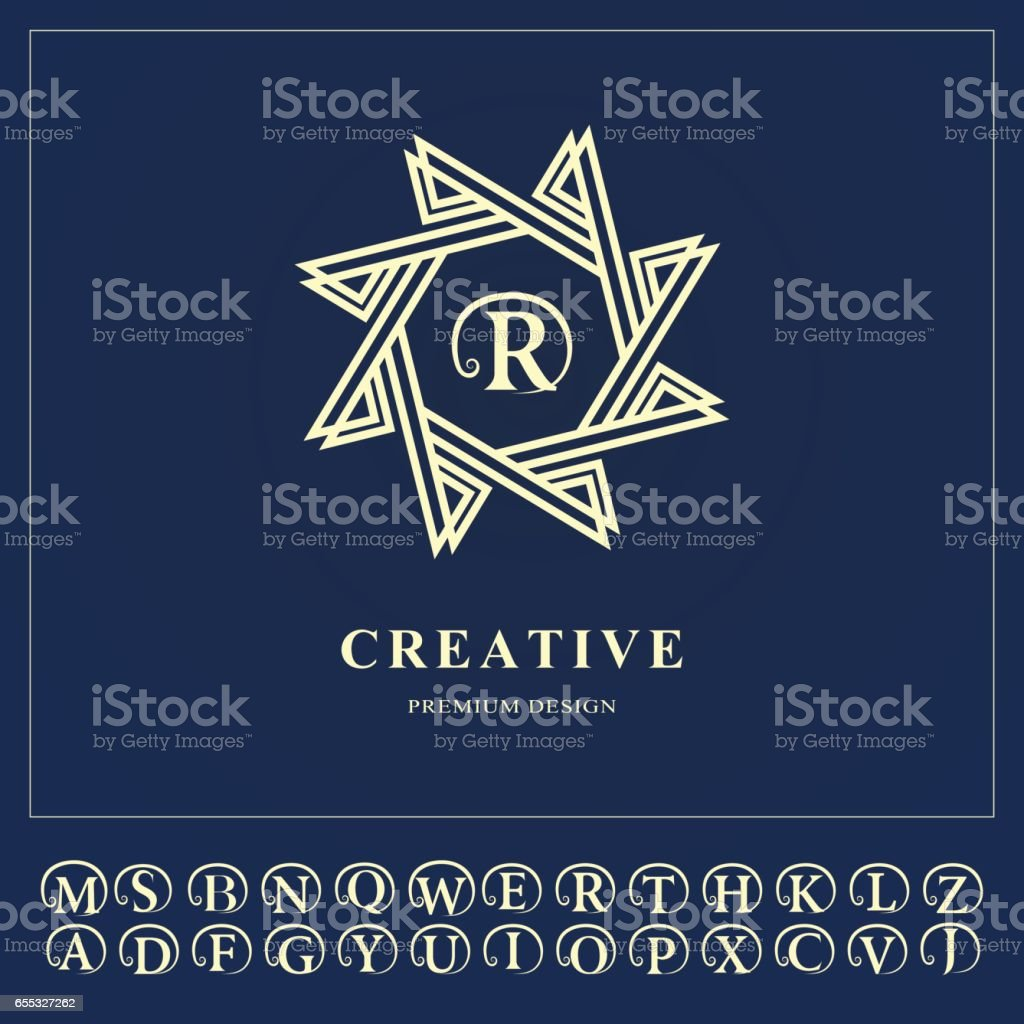 Emblem Eightpointed Star Creative Logo Design Templates Abstract Minimalistic Design Geometric And Simple Monogram Business Sign For Holistic Medicine Centers Yoga Classes Vector Illustration Stock Illustration Download Image Now Istock