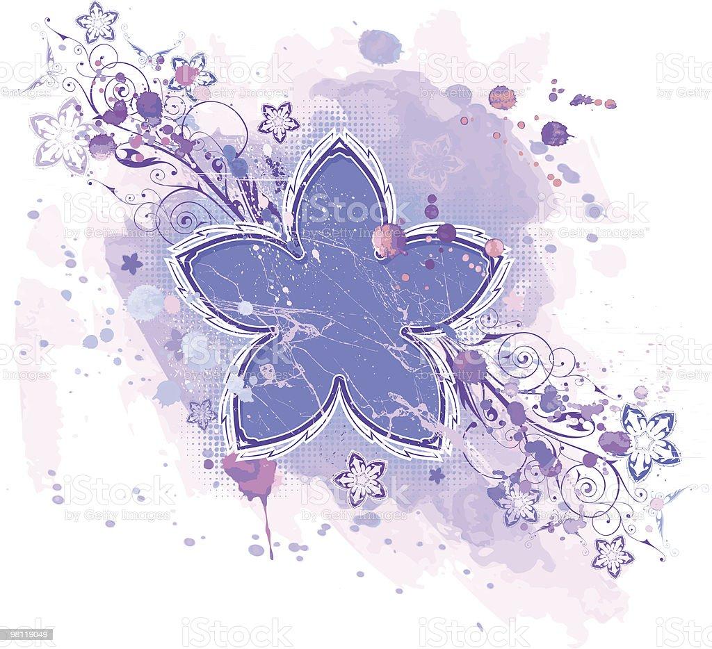 Emblema fiori & watercoolor vernice emblema fiori watercoolor vernice - immagini vettoriali stock e altre immagini di arte royalty-free