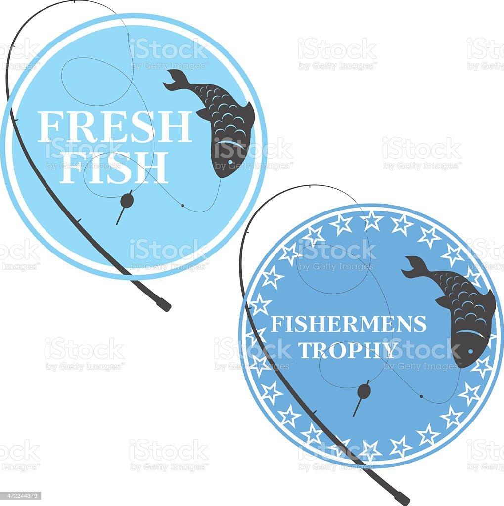 emblem for fishing royalty-free stock vector art