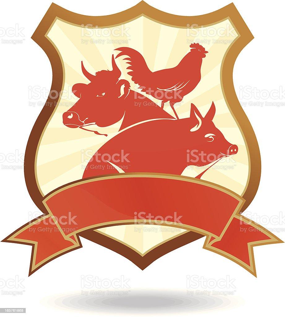 Emblem for meat industry vector art illustration