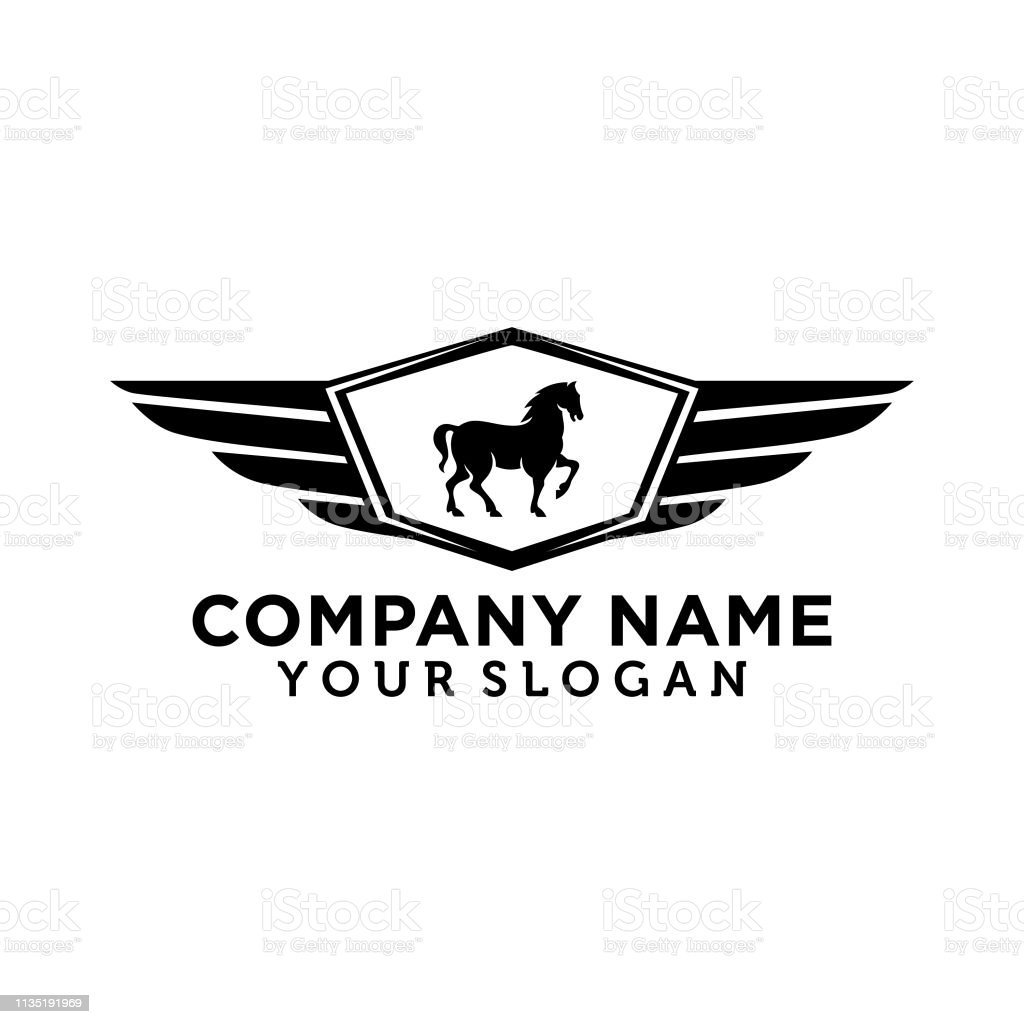 Emblem horse for automotive car logo template EPS 10