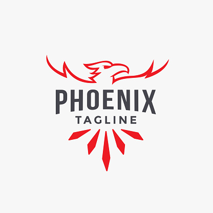emblem label Phoenix vector template on white background