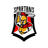 A Collection Of Emblems Logos Badges A Spartan With A Sword
